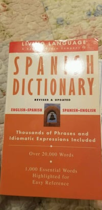Learn Spanish book dictionary cassette set