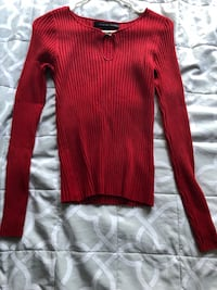 Red long sleeve top Dallas