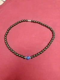 Women's Heavy Metal Smooth Stone Necklace Barrie, L4N 5B1
