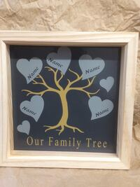 Pine framed personalised family tree ideal gift  Burntwood, WS7 4QD