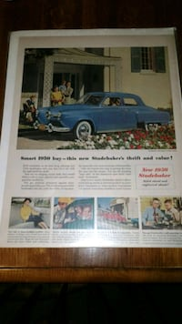 VINTAGE 1950S STUDEBAKER ADVERTISING PIECE Chambersburg