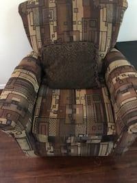 brown and black fabric sofa chair North Las Vegas, 89115