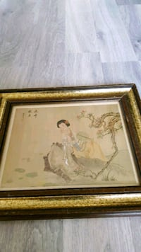 Vintage Chinese Imperial Woman Art Picture Frame Markham, L6B 1G6