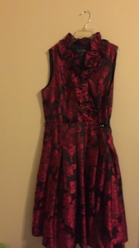women's red and black floral sleeveless dress Alexandria, 22306