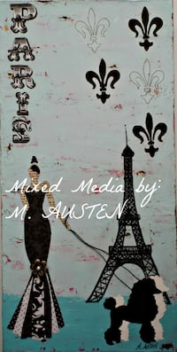 Original PARIS Paintings on Gallery Wrapped Canvas Milton