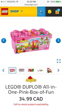 Brand new Lego duplo pink box