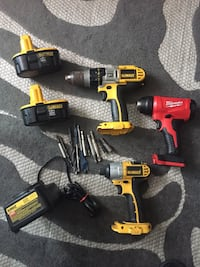 2 DeWalt power drills an 1 heat drill all accessories including battery included 30 km