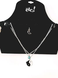 yin & yang, droplet, and moon choker necklaces Irvine, 92612