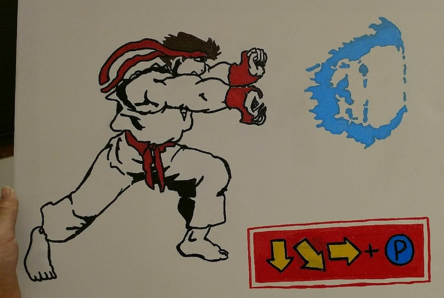 Used Street Fighter Ryu Hadouken 16 20 Canvas For Sale In Fontana