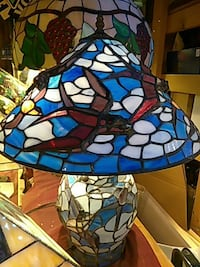 blue and white stained glass table lamp Philadelphia, 19147