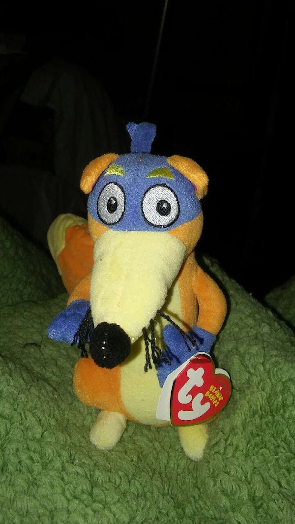 Used dora the explorer swipper ty beanie baby for sale in Janesville ... a7519a7fe3a