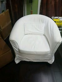 white and gray fabric sofa chair Vancouver, V5K 2A7
