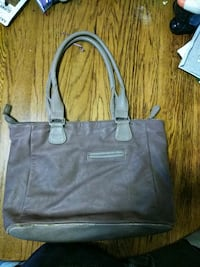 women's gray leather tote bag Norfolk, 23504