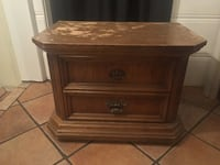 Wooden End Table with 2 Drawers  Los Angeles, 91423