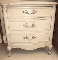 French Provincial gray nightstand chest of drawers  35 km