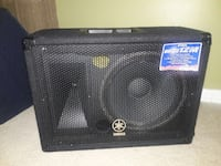 4 Black yamaha speakers