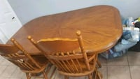 Oak table and chairs Brampton, L6T 1H6