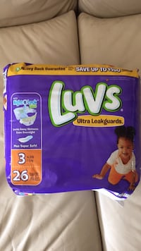 Luvs diapers. Size 3  Sierra Vista, 85613