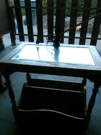 Table with lamp attached Riverbank