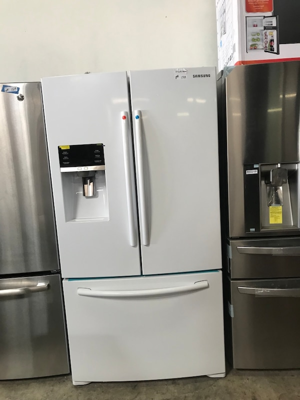 Samsung 22 5 Cu Ft Counter Depth French Door Refrigerator With Ice Maker White