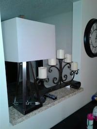 2 charcoal grey colored lamps  Haines City, 33844