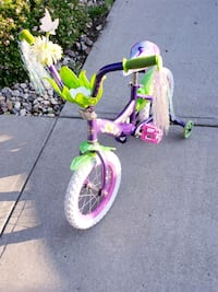 "14""inches  tinker bell  bike (very good condition"