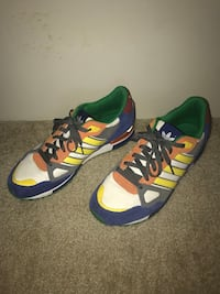 pair of yellow-and-blue Adidas sneakers Baltimore, 21220