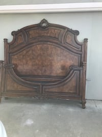 Solid wood Cal king bed frame and matching end table Union City, 94587