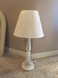 White wooden table lamp Tulare, 93274