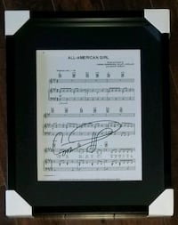 Carrie Underwood Signed Lyrics Photo Framed w/COA  Brampton, L6Y 4B3