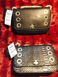 LOVELY PAIR OF TWO LEATHER HANDBAGS!;)