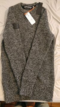 Brand new charcoal blue super dry sweater jumper Arlington, 22204