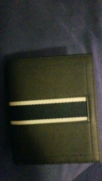 black and brown leather bi-fold wallet Brampton