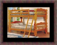 Wooden bunkbed frame with 2 mattress Fairfax
