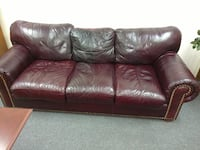 Brown leather 3-seat sofa Florence, 29501