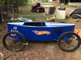 Blue hot wheels go kart