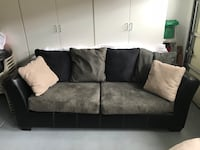 Black and gray suede 2-seat sofa Artesia, 90701
