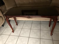 rectangular brown wooden table with two chairs Dallas, 75228