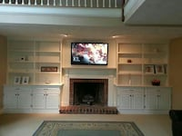 white wooden fire place with cabinet Winchester, 22601