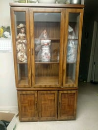 brown wooden framed glass display cabinet Knoxville, 37918