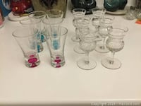 Two sets of 6 cute shot glasses and aperitif glasses  Newmarket, L3X 2E6