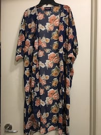 black and brown floral long-sleeved dress 726 km