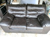 brown leather 2-seat sofa Tracy, 95376