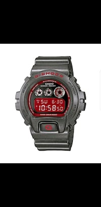 Casio G Shock Gray Metallic Red Face Watch Edison, 08817