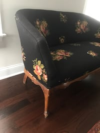 black and brown floral fabric sofa chair Sparta, 07871