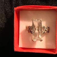 925 crystal and marcasite ring Glen Burnie, 21061