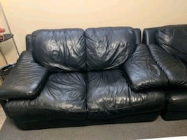 Pair of Leather love seats