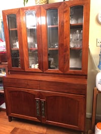 Teak Real Wood China Crystal Cabinet Buffet Mountain View, 94043