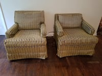 two brown-and-white stripe sofa chairs Acworth, 30101