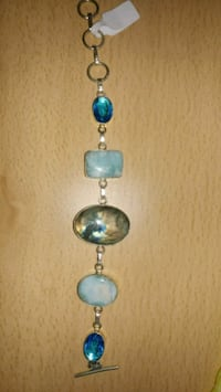 silver and blue gemstone pendant necklace Montreal, H8T